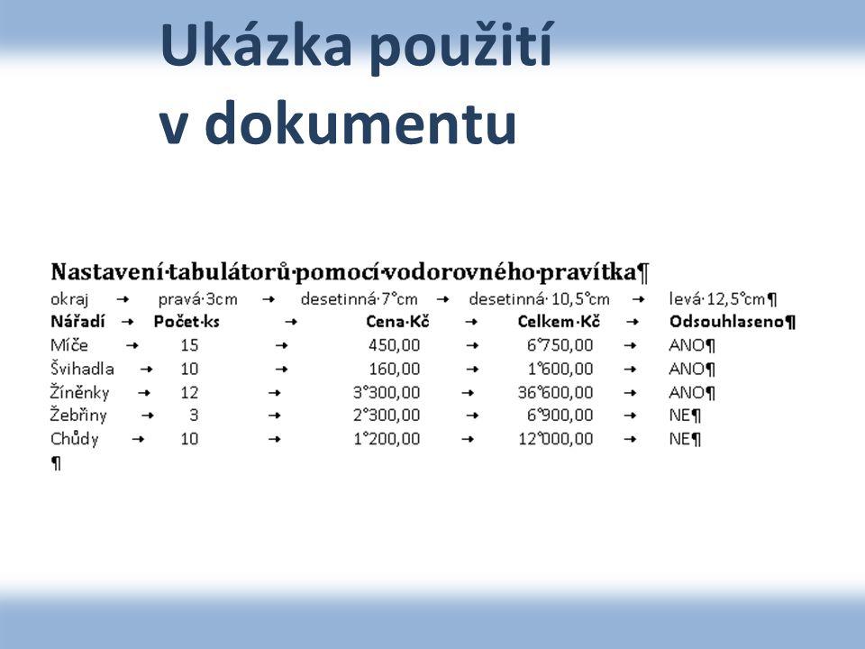 Ukázka převedeného textu na tabulku NářadíPočet ksCena KčCelkem KčOdsouhlaseno Míče15450,006 750,00ANO Švihadla10160,001 600,00ANO Žíněnky123 300,0036 600,00ANO Žebřiny32 300,006 900,00NE Chůdy101 200,0012 000,00NE