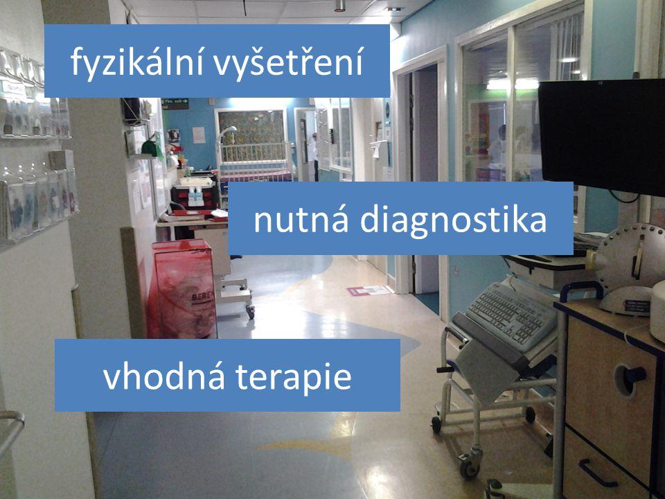 fyzikální vyšetření nutná diagnostika vhodná terapie