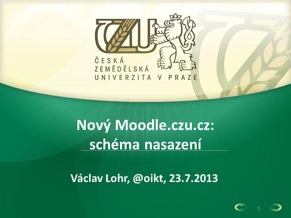 1 Nový Moodle.czu.cz: schéma nasazení Václav Lohr, @oikt, 23.7.2013