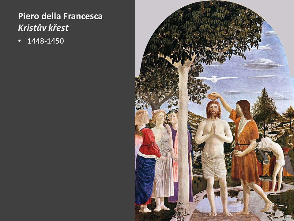 Piero della Francesca Kristův křest 1448-1450 1448-1450