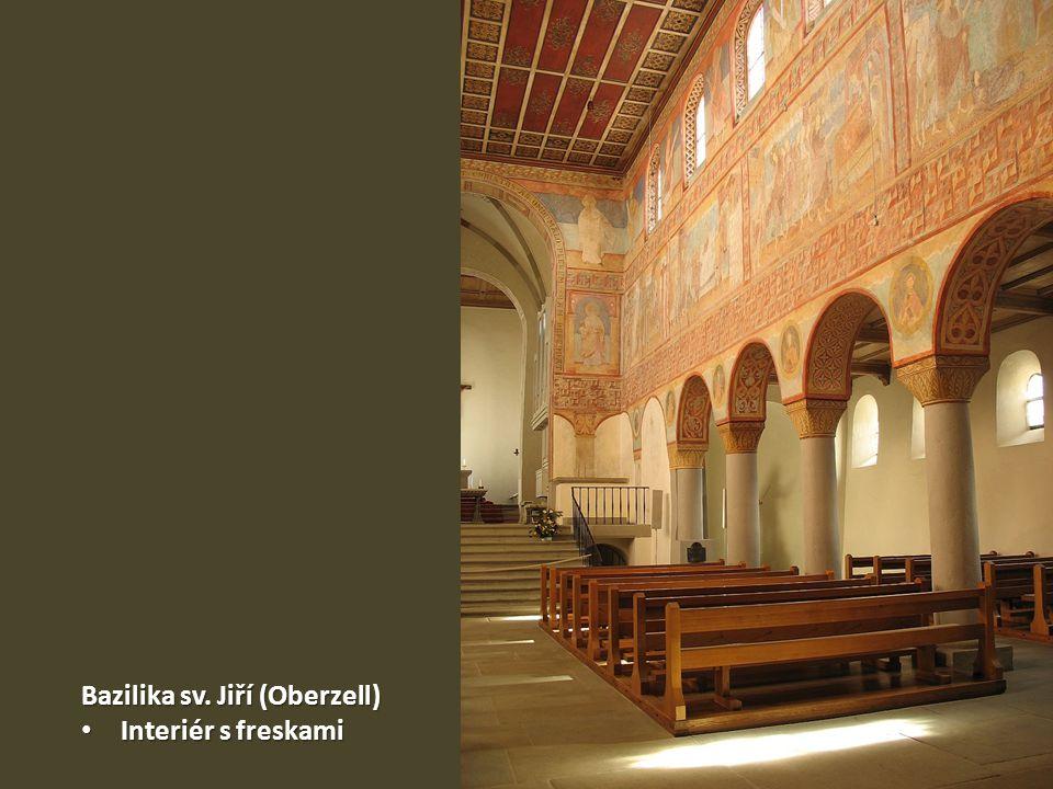 Bazilika sv. Jiří (Oberzell) Interiér s freskami Interiér s freskami