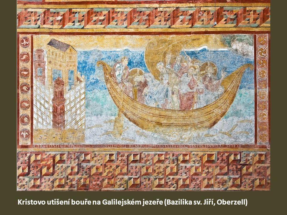 Kristovo utišení bouře na Galilejském jezeře (Bazilika sv. Jiří, Oberzell)