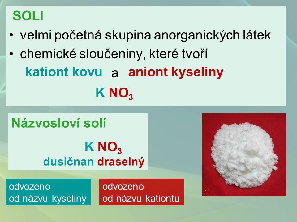 1. Soli bezkyslíkatých kyselin
