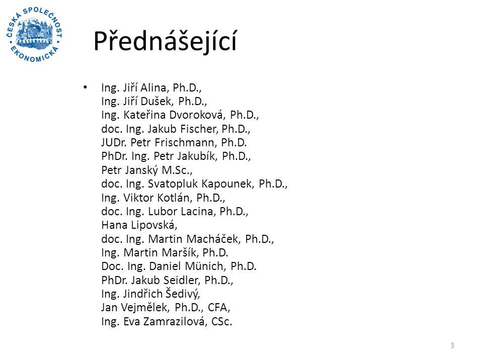 Přednášející Ing.Jiří Alina, Ph.D., Ing. Jiří Dušek, Ph.D., Ing.