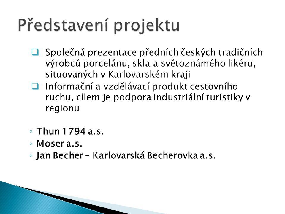  Společná prezentace předních českých tradičních výrobců porcelánu, skla a světoznámého likéru, situovaných v Karlovarském kraji  Informační a vzděl