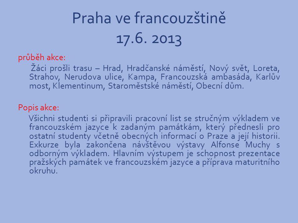 Praha ve francouzštině 17.6.