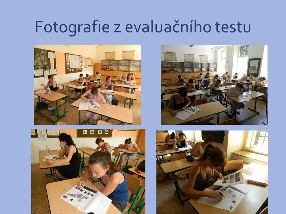 Fotografie z evaluačního testu