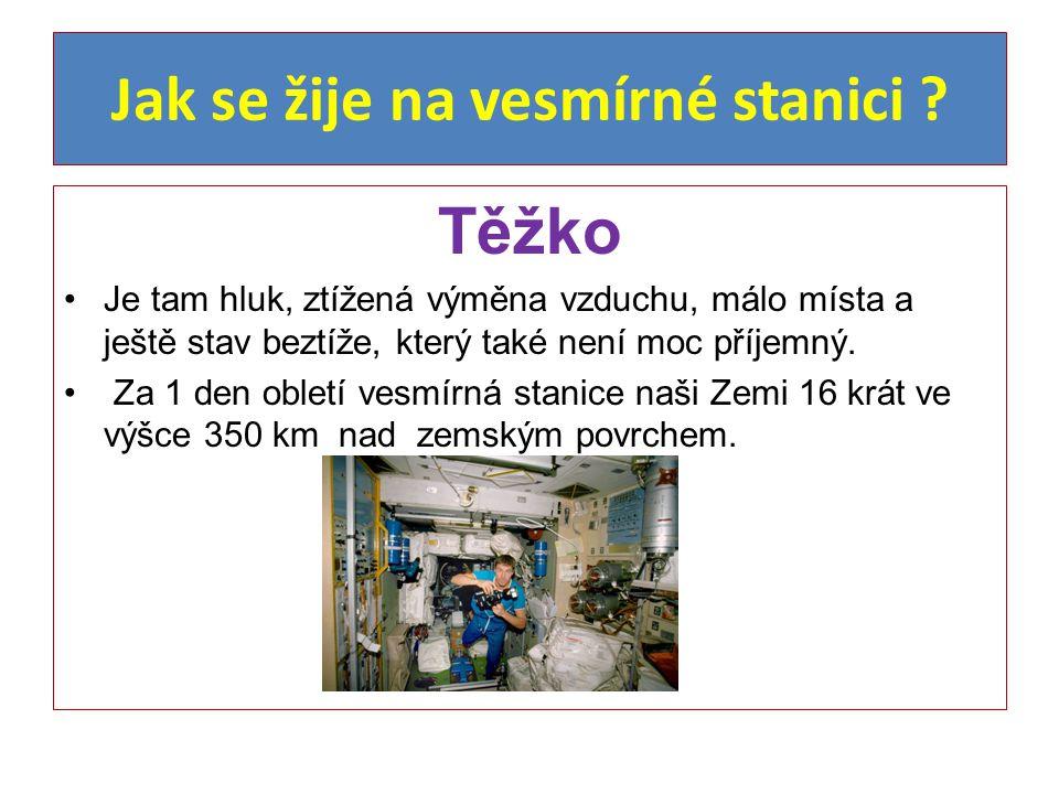 Jak se žije na vesmírné stanici ? Těžko Je tam hluk, ztížená výměna vzduchu, málo místa a ještě stav beztíže, který také není moc příjemný. Za 1 den o