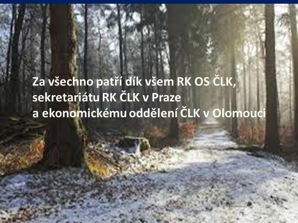 Za všechno patří dík všem RK OS ČLK, sekretariátu RK ČLK v Praze a ekonomickému oddělení ČLK v Olomouci