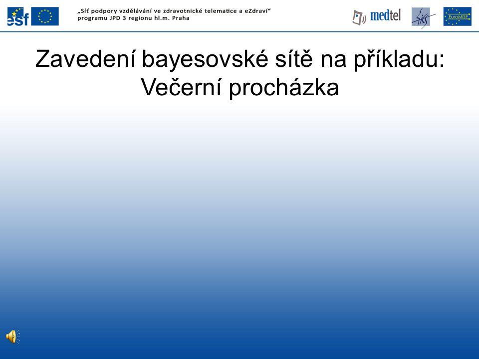 Zavedení bayesovské sítě na příkladu: Večerní procházka