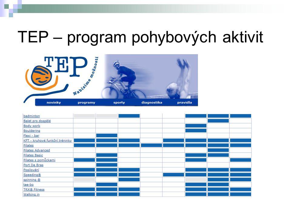 TEP – program pohybových aktivit