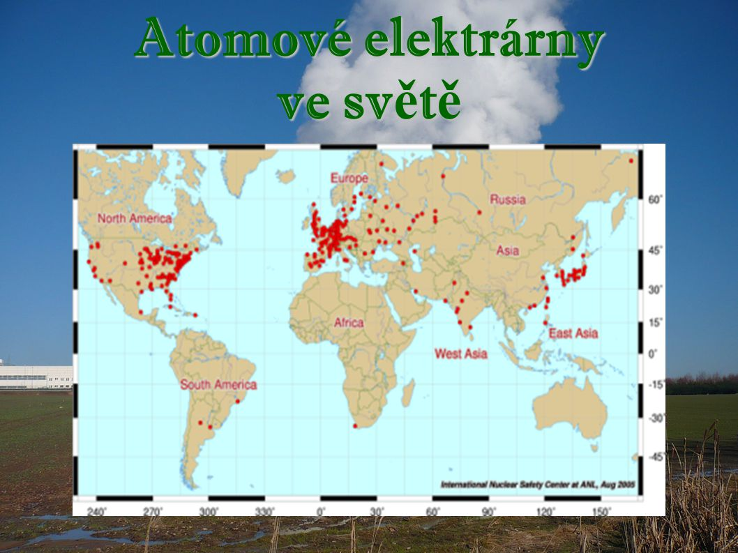Atomové elektrárny ve sv ě t ě