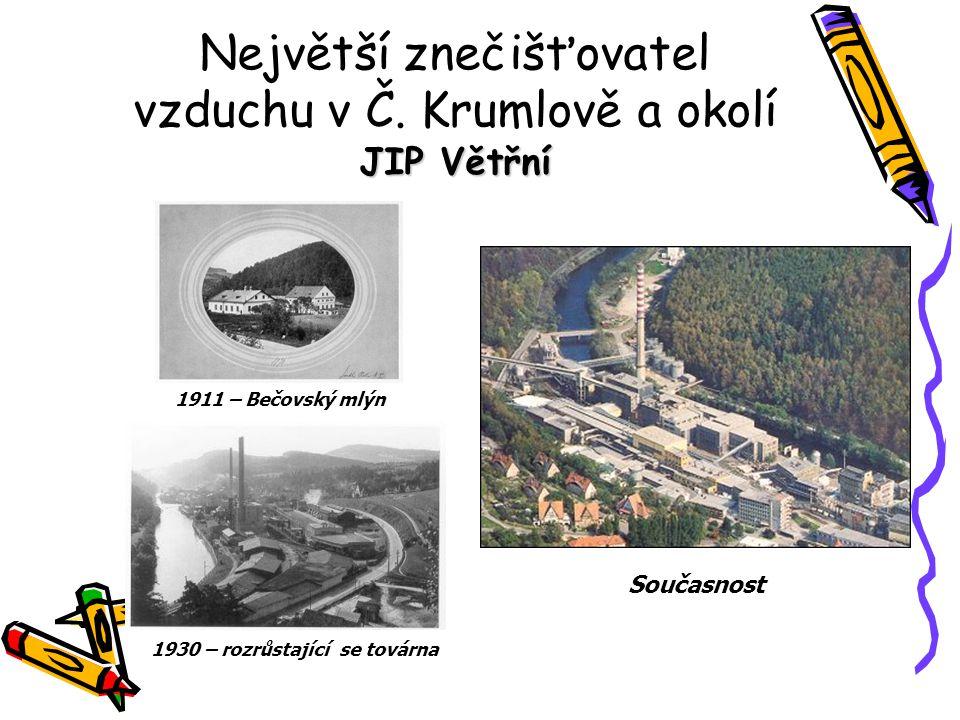 JIP Větřní Největší znečišťovatel vzduchu v Č.
