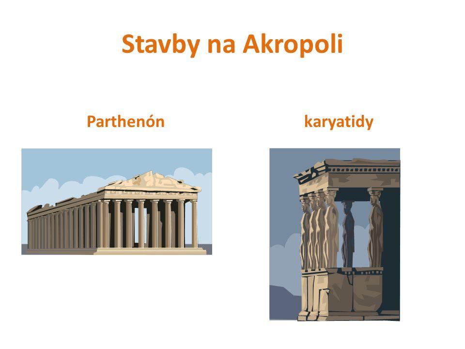 Stavby na Akropoli Parthenónkaryatidy