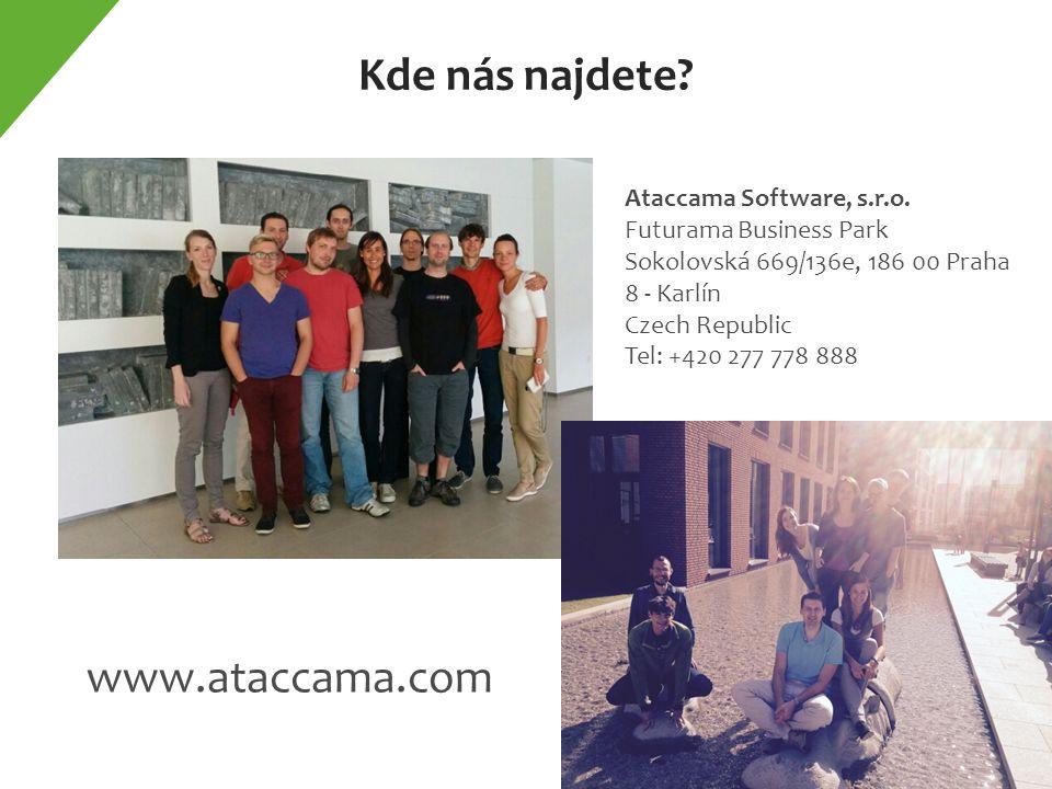 Kde nás najdete. www.ataccama.com Ataccama Software, s.r.o.