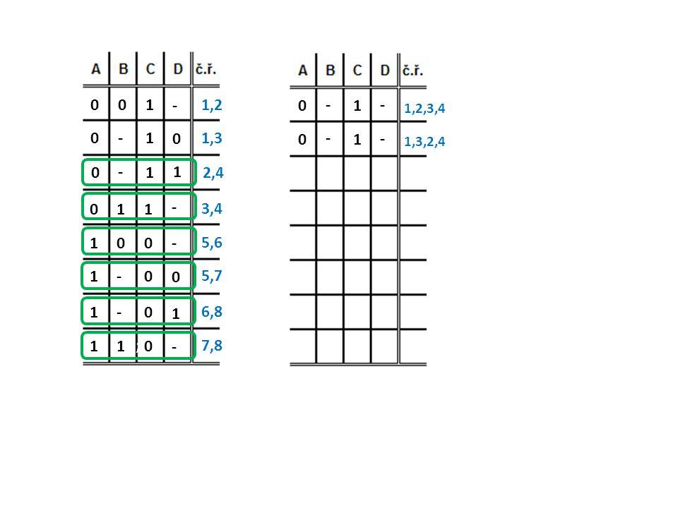 - 1001,2 0 1-01,3 1 1 - 0 2,4 - 1 1 0 3,4 - 0 0 1 5,6 0 0 - 1 5,7 1 0 - 1 6,8 - 0 1 1 7,8 - 1 - 0 1,2,3,4 - 1 - 0 1,3,2,4 ;