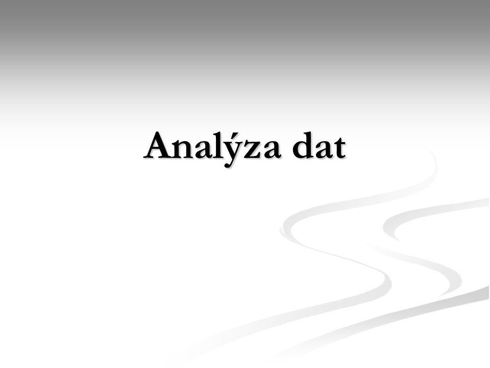 Všechny etapy výzkumu musí být podřízeny záměrům analýzy dat Formulování hypotéz Formulování hypotéz Sestavení dotazníku Sestavení dotazníku Definování cílové populace Definování cílové populace Výběr vzorku Výběr vzorku