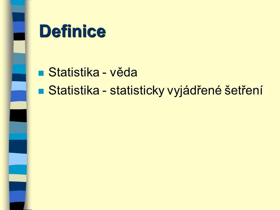 Statistika n experimentální design n popisná analýza n testování hypotéz n explorativní statistika n data mining
