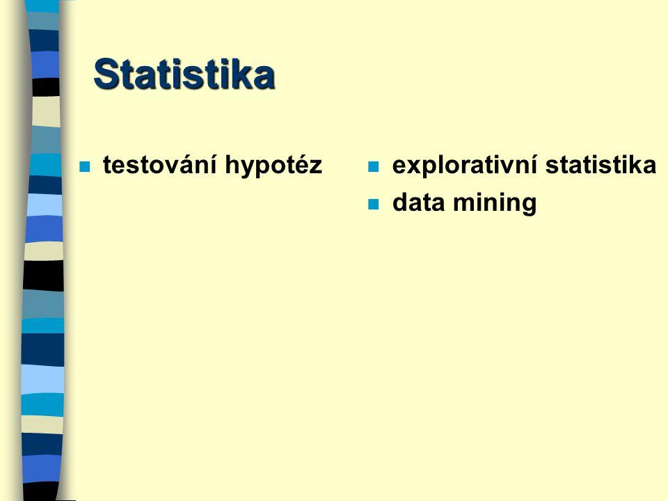Příklad 5 n Analyzujte tabulku 2x2 n Vyslovte nulovou a alternativní hypotézu.