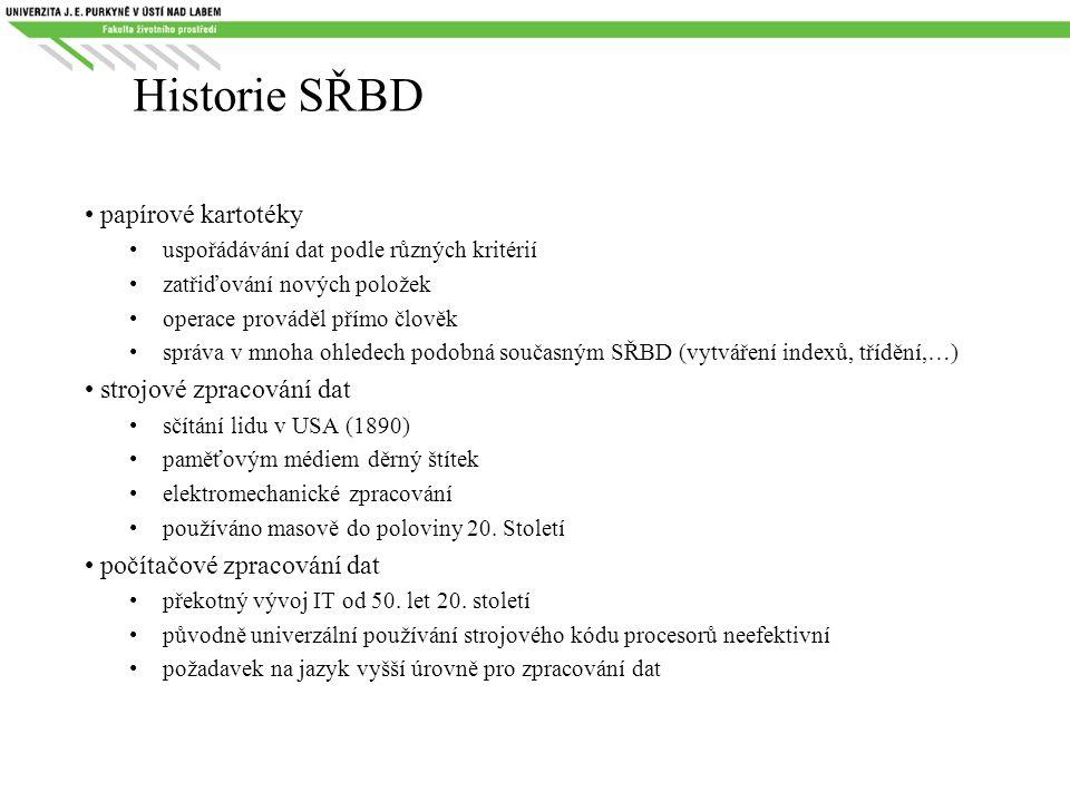 Historie SŘBD 50.