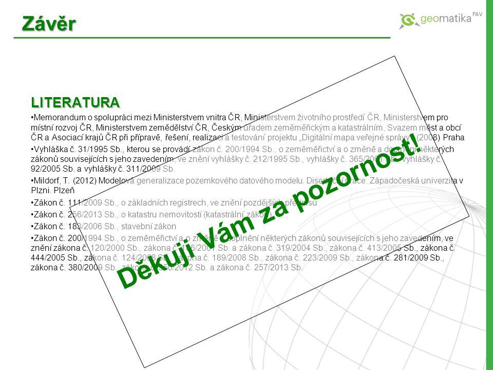 LITERATURA Memorandum o spolupráci mezi Ministerstvem vnitra ČR, Ministerstvem životního prostředí ČR, Ministerstvem pro místní rozvoj ČR, Ministerstv