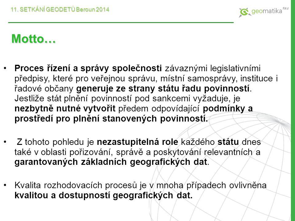 Základní prostorová data Základní prostorová data pro infrastrukturu pro prostorové informace v Evropském společenství zákona č.