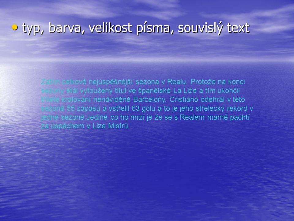 Příliš mnoho souvislého textu – žádné obrázky