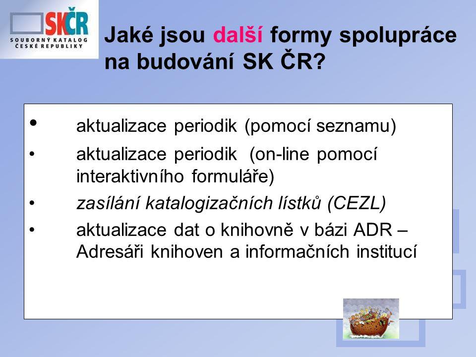 Jaké jsou další formy spolupráce na budování SK ČR.