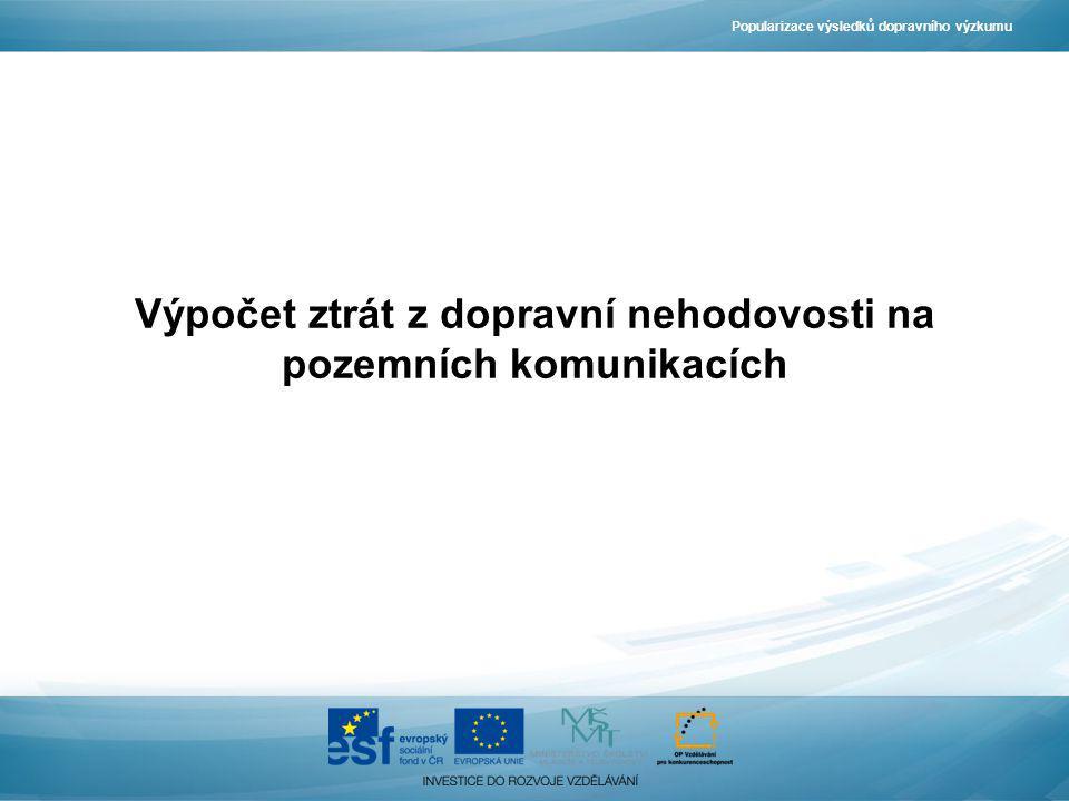 Výpočet ztrát z dopravní nehodovosti na pozemních komunikacích Popularizace výsledků dopravního výzkumu