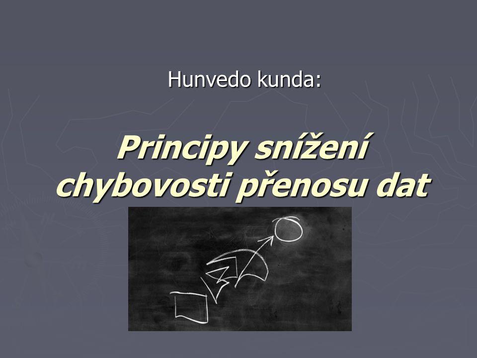 Principy snížení chybovosti přenosu dat Hunvedo kunda: