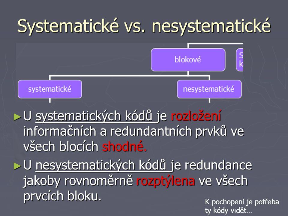Systematické vs.