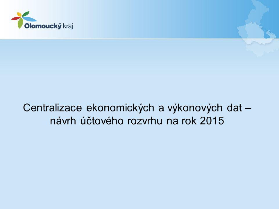 Centralizace ekonomických a výkonových dat – návrh účtového rozvrhu na rok 2015