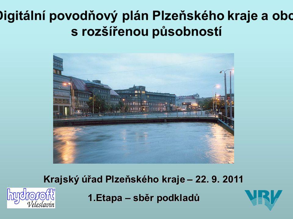 DIGITÁLNÍ POVODŇOVÉ PLÁNY (dPP) SBĚR DAT Plzeň 22.9.2011 strana 2 SBĚR DAT - PROBLÉMY NÁVRH ŘEŠENÍ