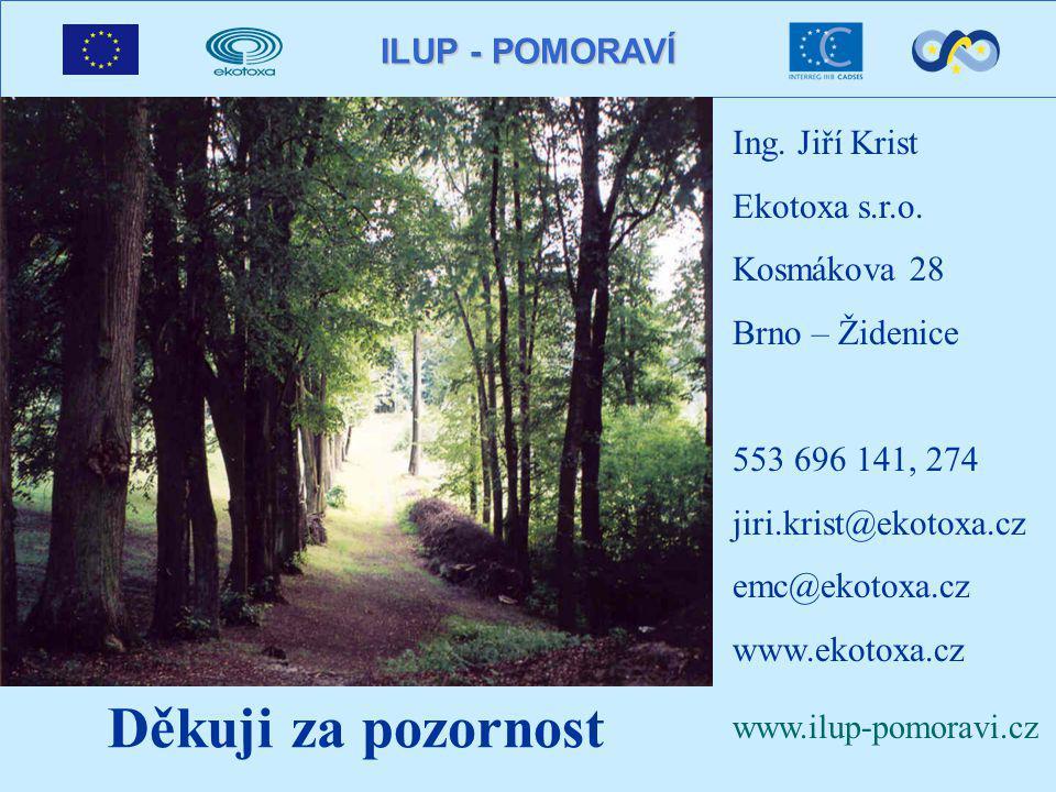 ILUP - POMORAVÍ Děkuji za pozornost Ing. Jiří Krist Ekotoxa s.r.o.