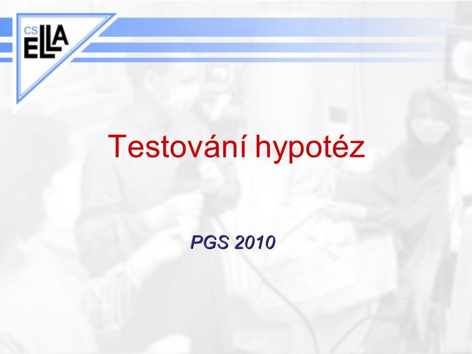 Testování hypotéz PGS 2010
