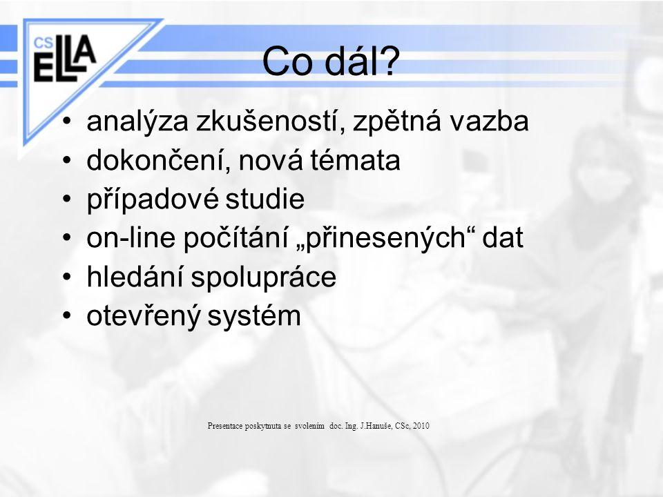 """Co dál? analýza zkušeností, zpětná vazba dokončení, nová témata případové studie on-line počítání """"přinesených"""" dat hledání spolupráce otevřený systém"""