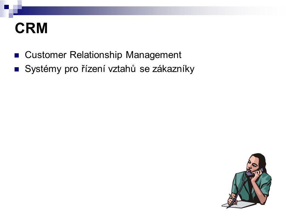 CRM Customer Relationship Management Systémy pro řízení vztahů se zákazníky