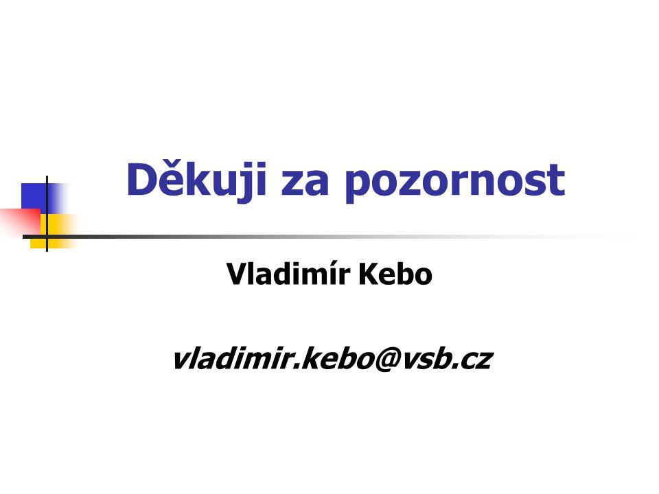 Děkuji za pozornost Vladimír Kebo vladimir.kebo@vsb.cz