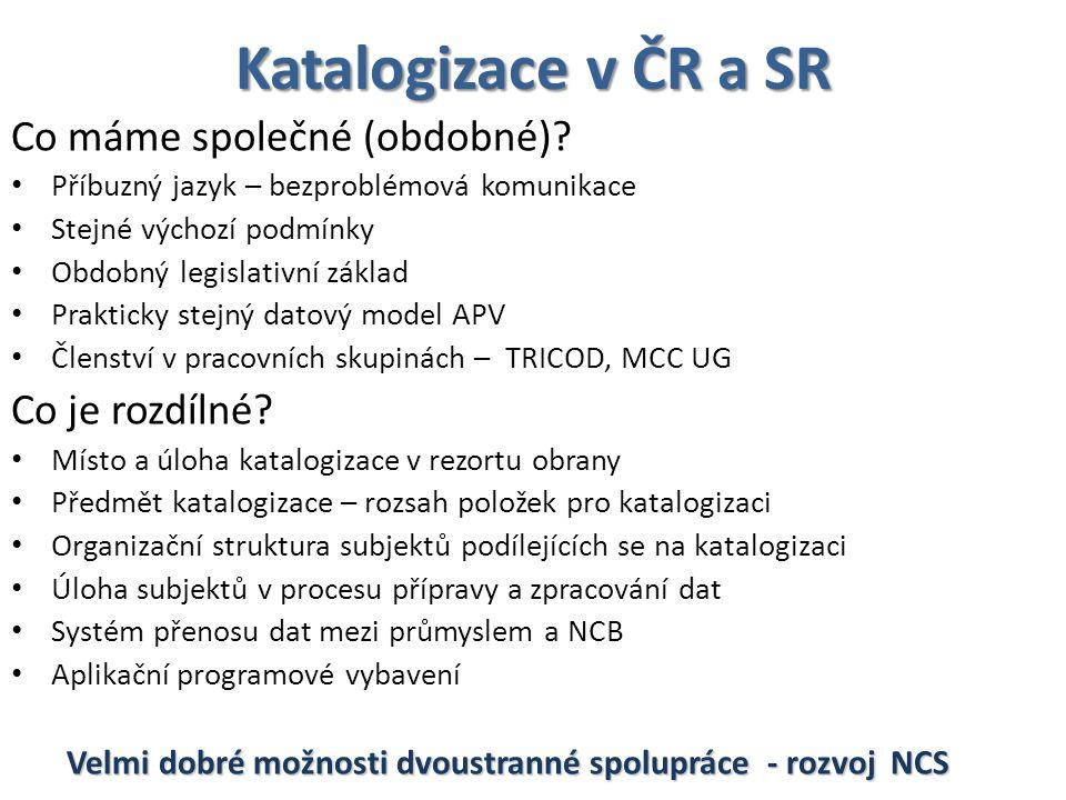 Katalogizace v ČR a SR Co máme společné (obdobné).