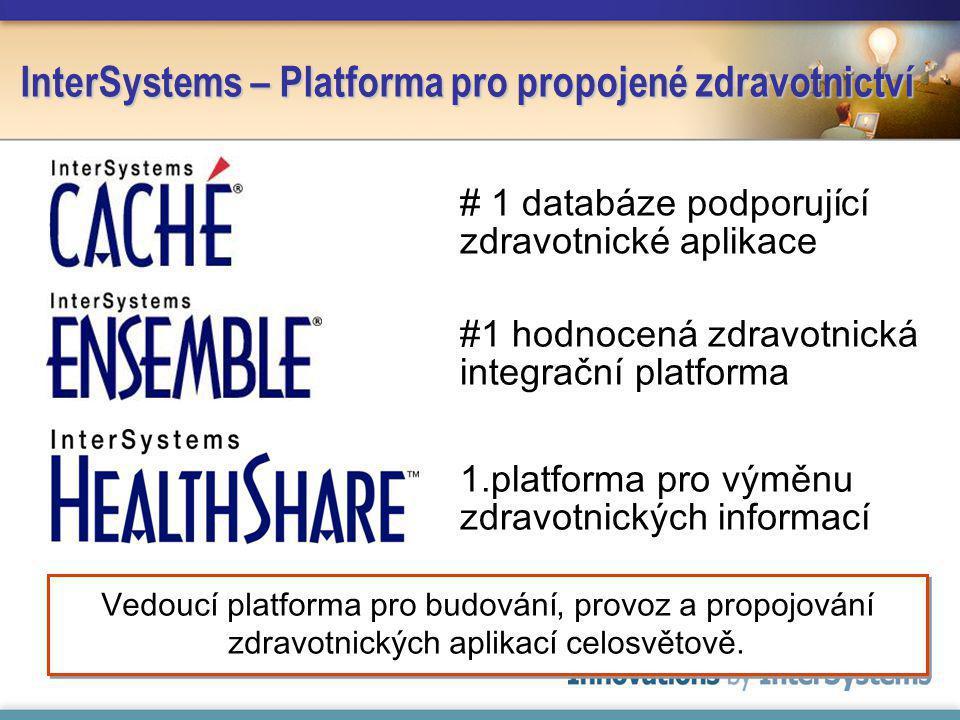 InterSystems – Platforma pro propojené zdravotnictví #1 hodnocená zdravotnická integrační platforma 1.