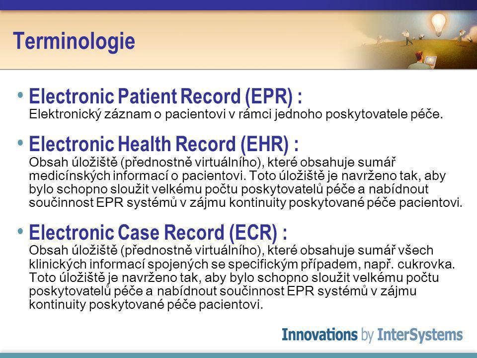 Terminologie Electronic Patient Record (EPR) : Elektronický záznam o pacientovi v rámci jednoho poskytovatele péče.
