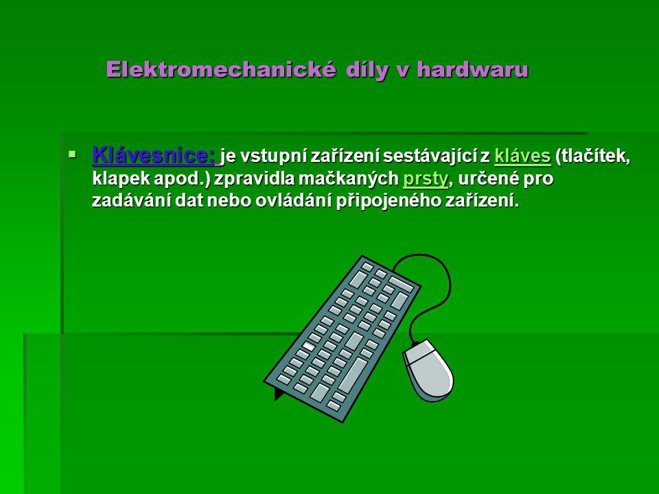 Myš Myš  Počítačová myš je malé polohovací zařízení, které převádí informace o svém pohybu po povrchu plochy (např.