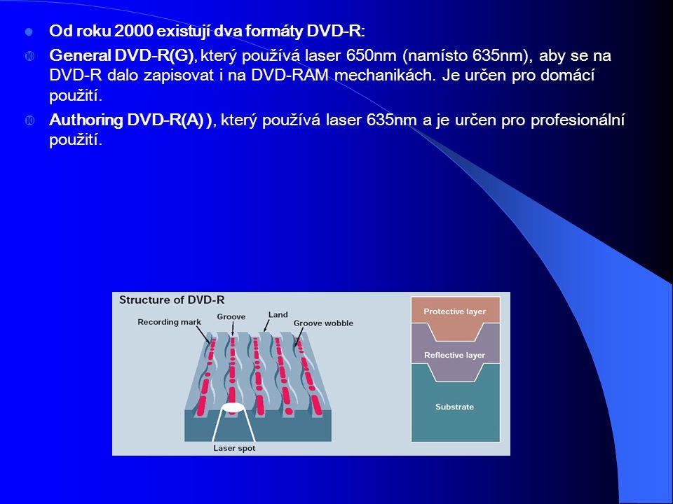 Od roku 2000 existují dva formáty DVD-R:  General DVD-R(G), který používá laser 650nm (namísto 635nm), aby se na DVD-R dalo zapisovat i na DVD-RAM me
