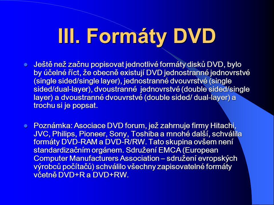 DVD-5 (4.7GB) single sided/single layer Je nejjednodušší z DVD disků a má podobnou strukturu jako obyčejné CD.