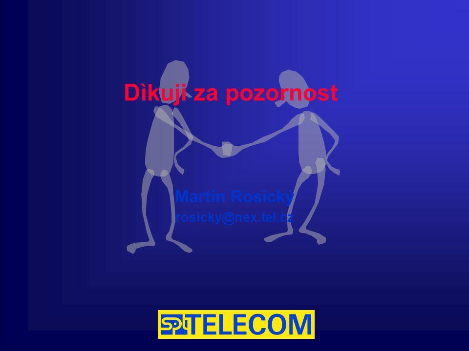 Dìkuji za pozornost Martin Rosický rosicky@nex.tel.cz
