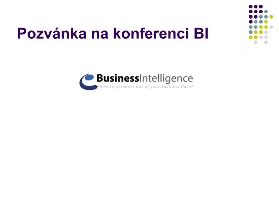 Pozvánka na konferenci BI
