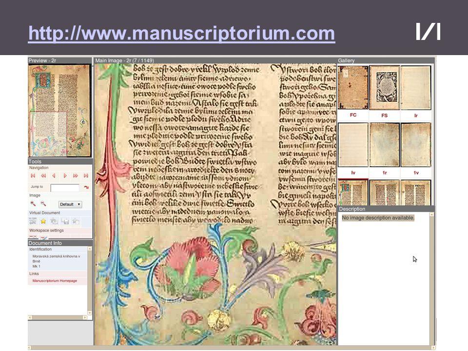 Moravská zemská knihovna http://www.manuscriptorium.com