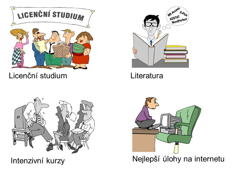 LiteraturaLicenční studium Intenzivní kurzy Nejlepší úlohy na internetu