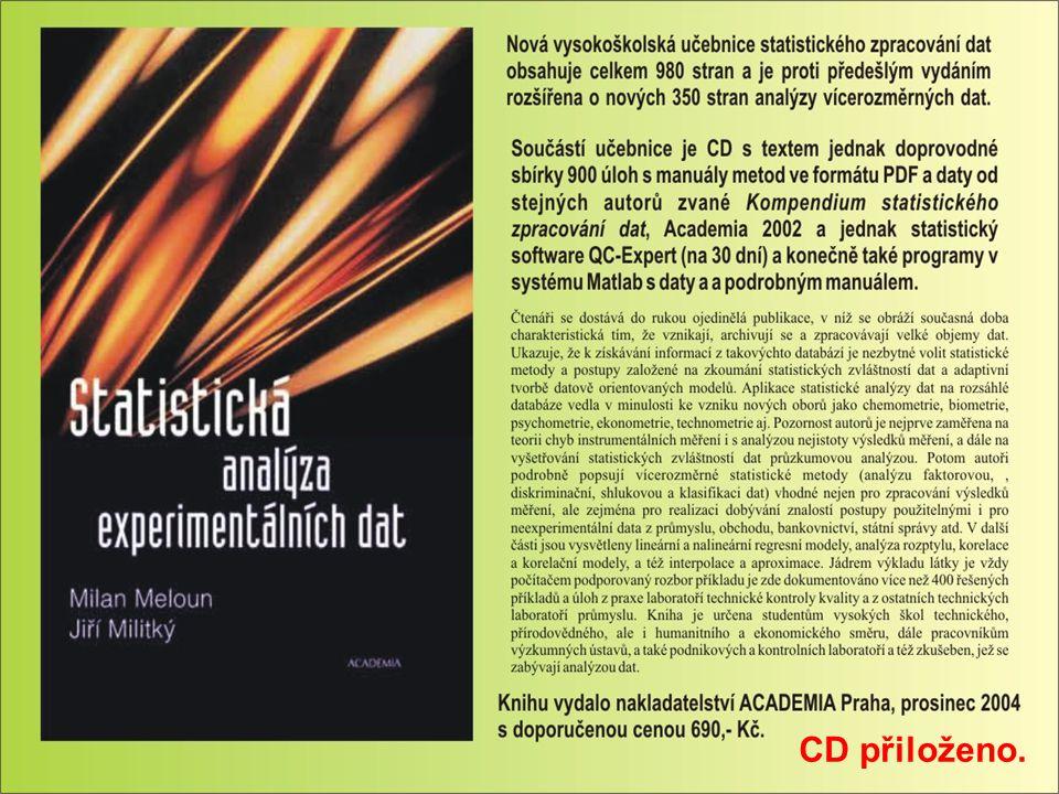Popis kurzu Zaměření kurzu: kurz základů statistického zpracování dat na počítači a řízení jakosti řešením praktických úloh.