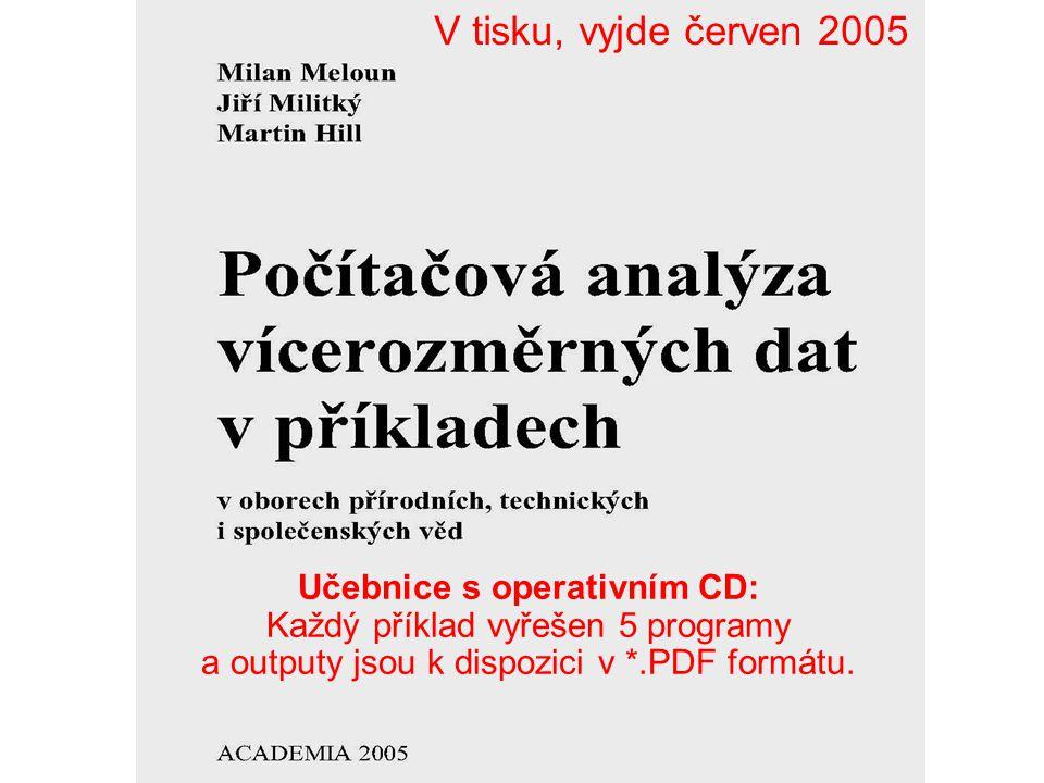 Učebnice s operativním CD: Každý příklad vyřešen 5 programy a outputy jsou k dispozici v *.PDF formátu. V tisku, vyjde červen 2005